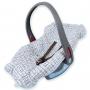 Capa para Bebê Conforto Incomfral Bambi Malhas - Ursinho Nuvem