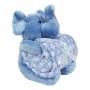 Kit Manta Bouton com Bichinho de Pelúcia - Elefante Azul