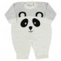 Macacão Inverno Plush Petutinha Bordado Panda - RN ao G