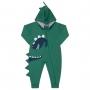 Macacão Pijama Inverno Vrasalon Moletom Dinossauros - 04 ao 08
