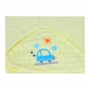 Toalha de Plush com Puff no Capuz Estampa Carrinhos - Incomfral - Bambi Malhas