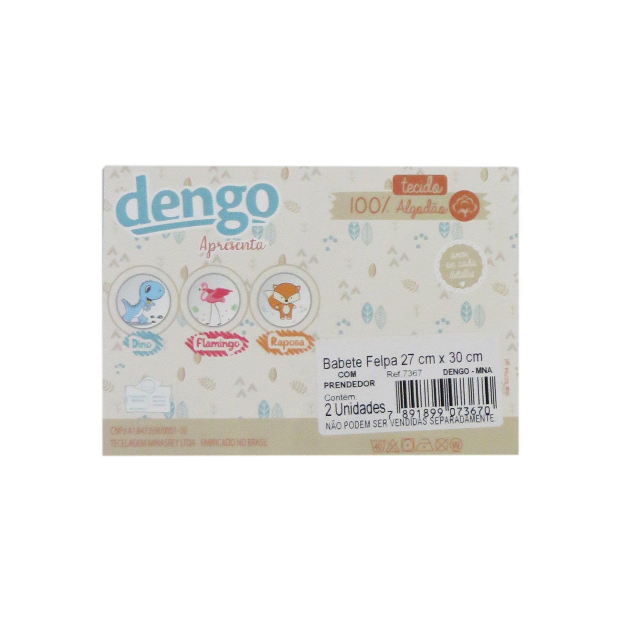 Babete felpa com Duas unidades - Minasrey - Dengo