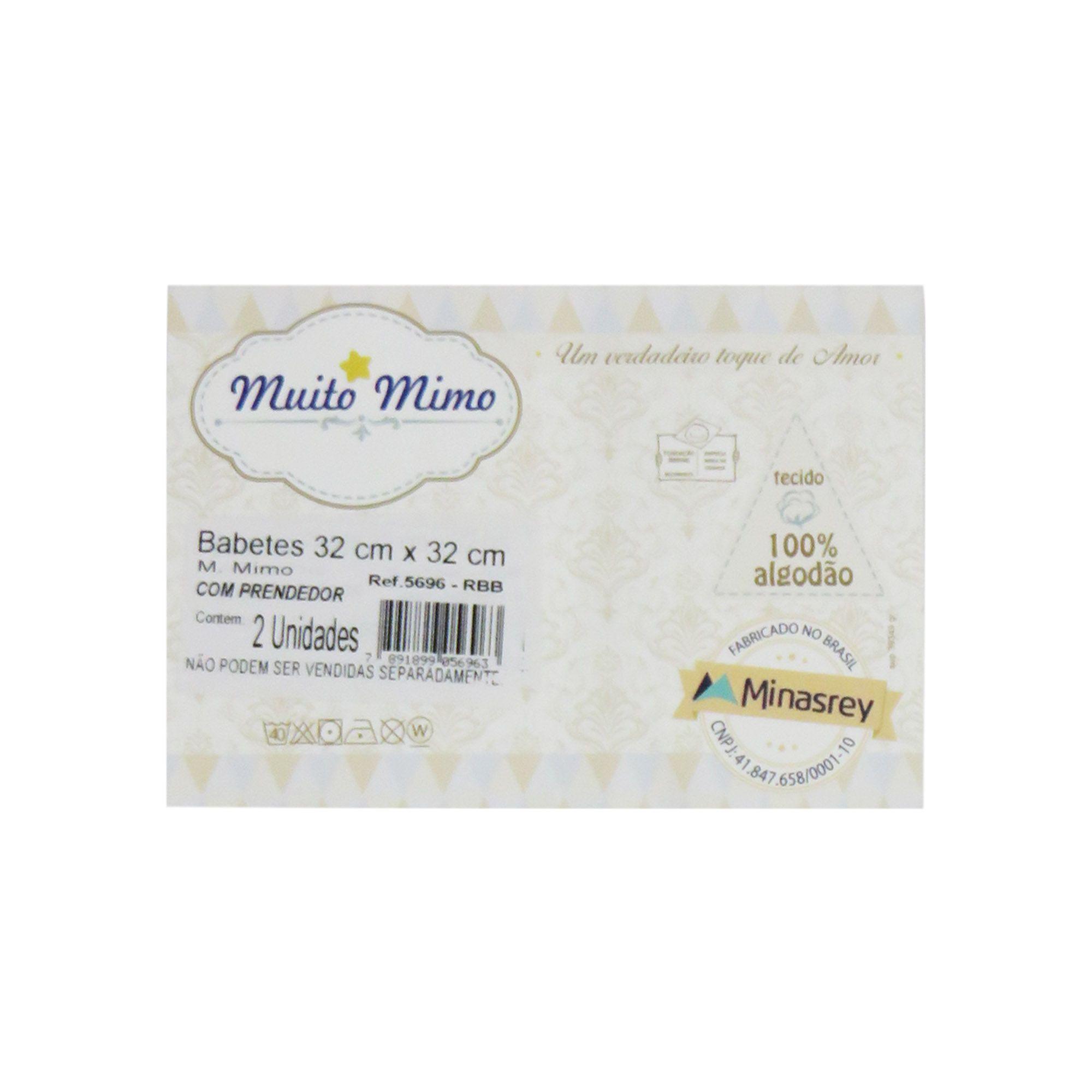 Babete Fralda - Minasrey - Muito Mimo - Azul