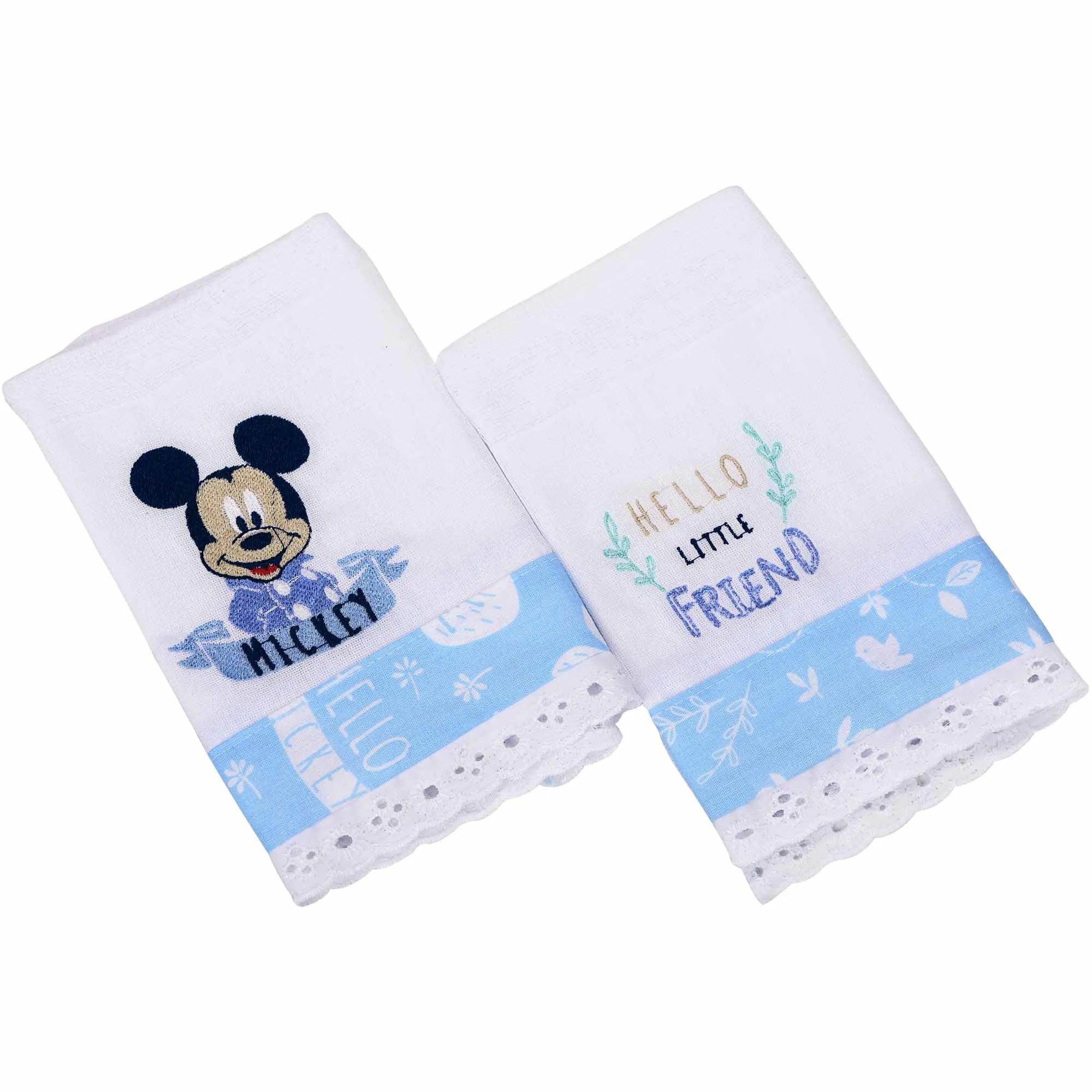 Babete Minasrey Disney Duas Unidades Bordada - Mickey
