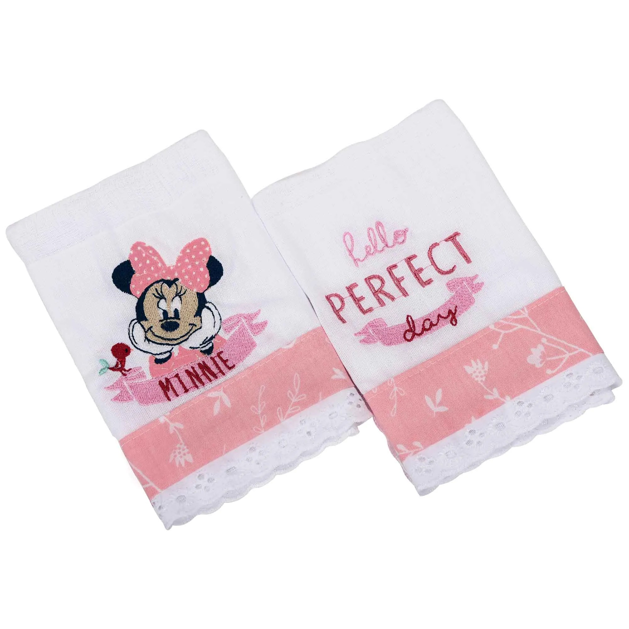 Babete Minasrey Disney Duas Unidades Bordada - Minnie