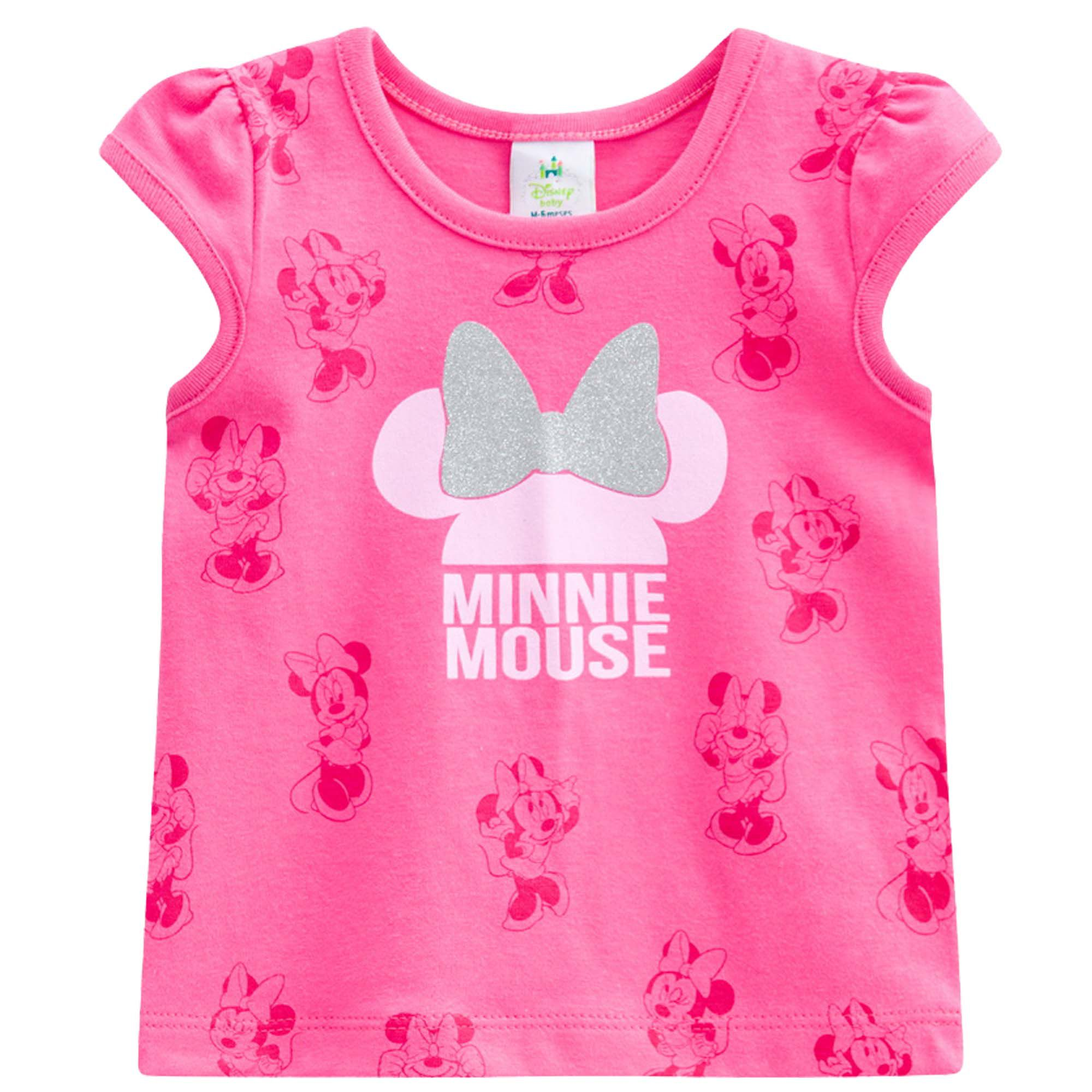 Blusa Meia Manga Brandili Disney Minnie Mouse - P ao G
