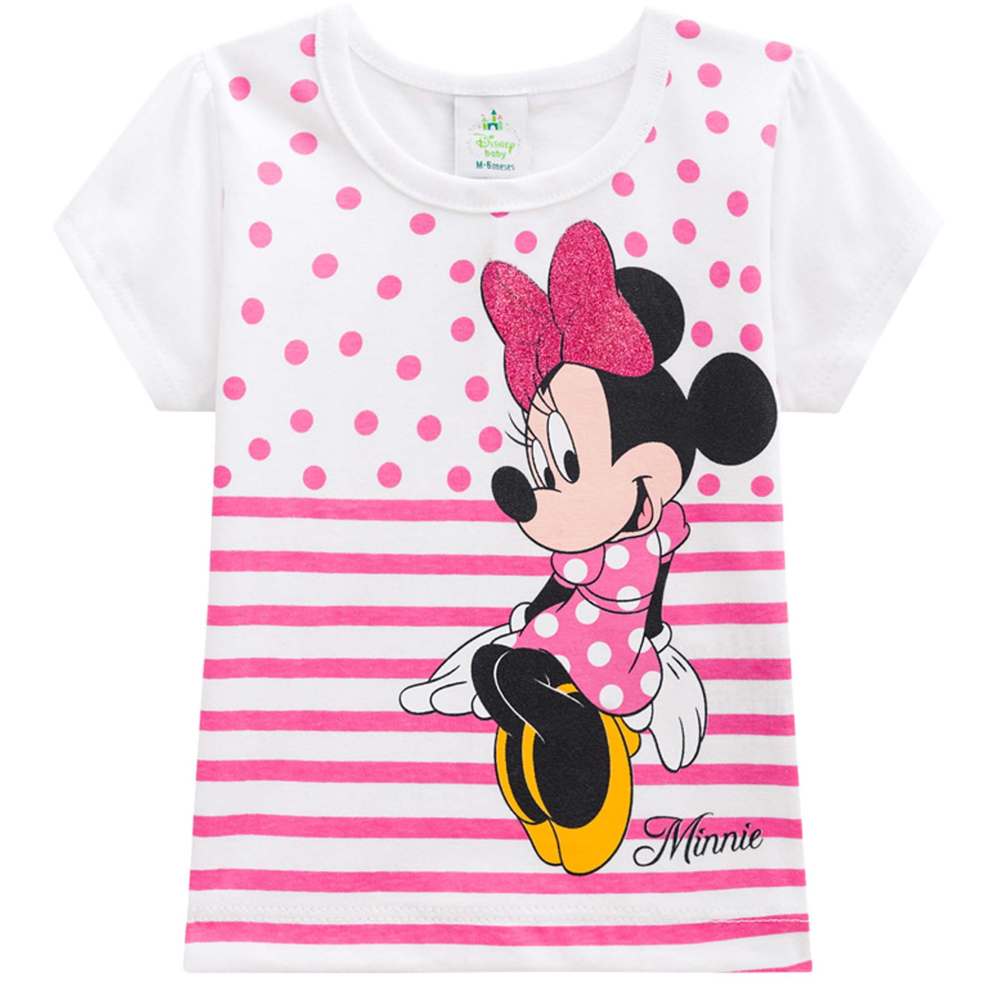 Blusa Meia Manga Brandili Disney Minnie - P ao G