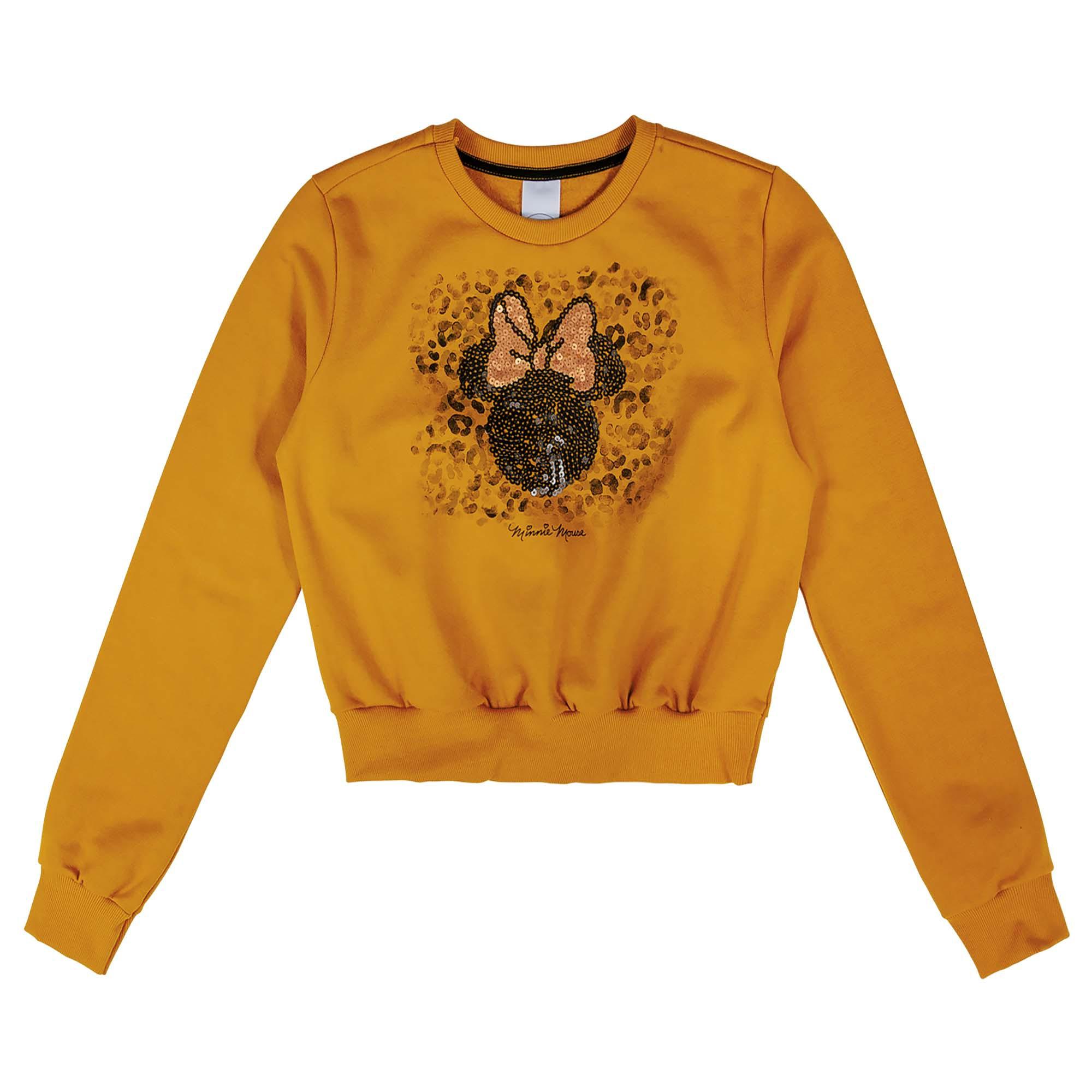 Blusão Cativa Estampa Bordado Lantejoula Mickey e Minnie - 10 ao 16