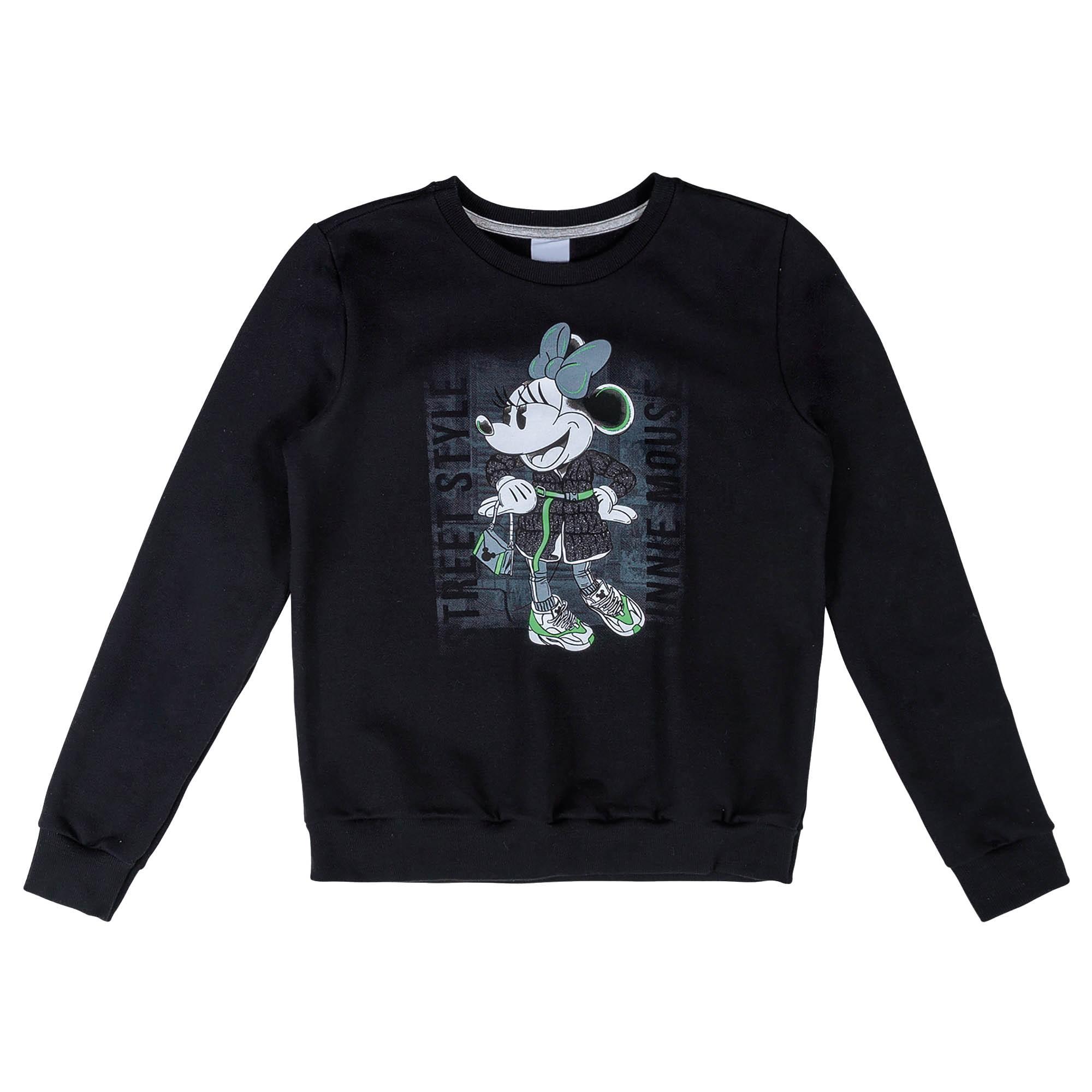 Blusão Cativa moletom peluciado Mickey e Minnie - 10 ao 16
