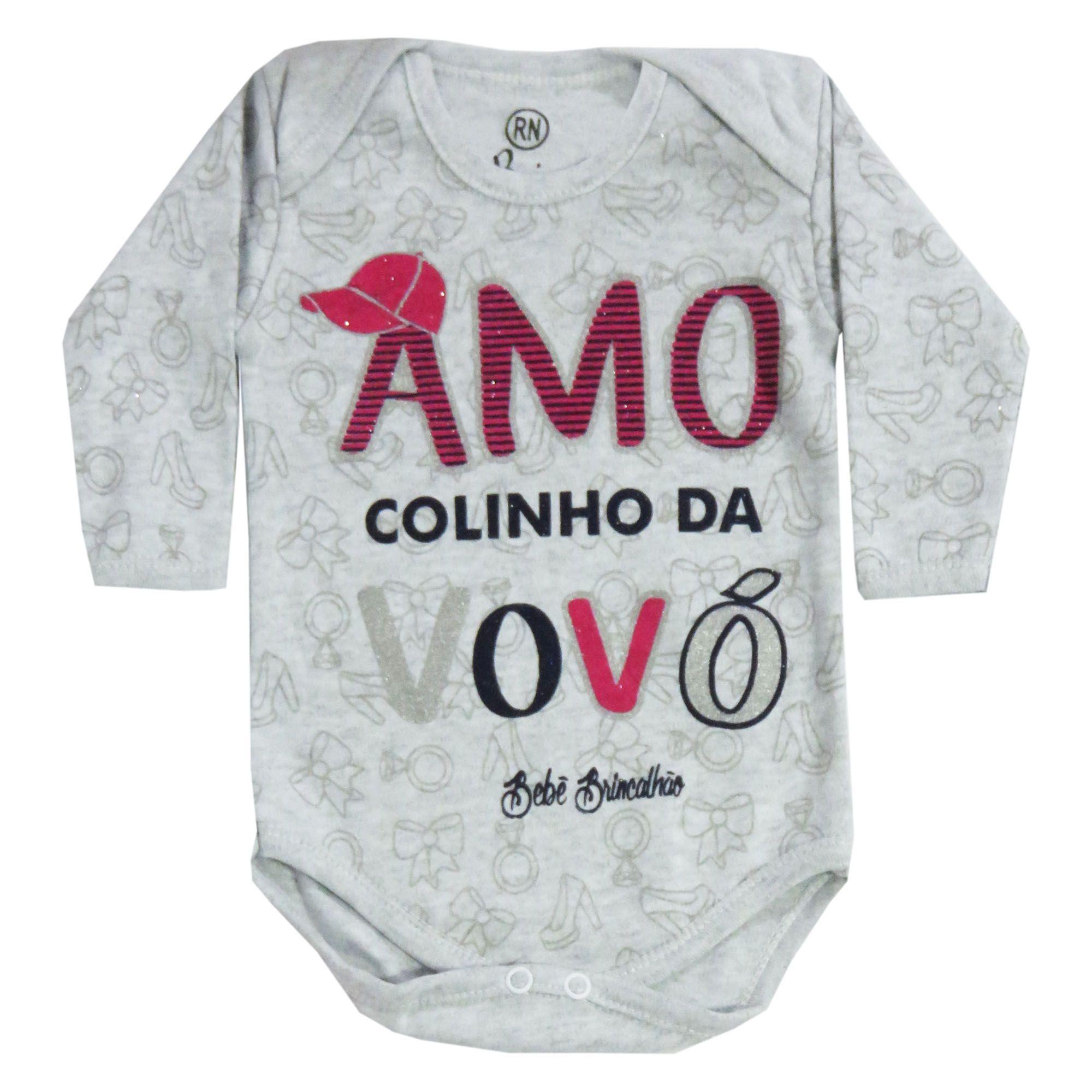 Body Bebê Brincalhão Frases Amo o Colinho da Vovó - RN ao G