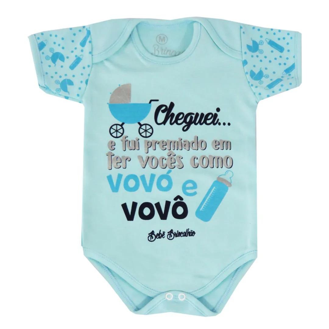 Body Bebê Brincalhão Frases - Tarefa do dia - Melhor Pai - Cheguei - P ao G
