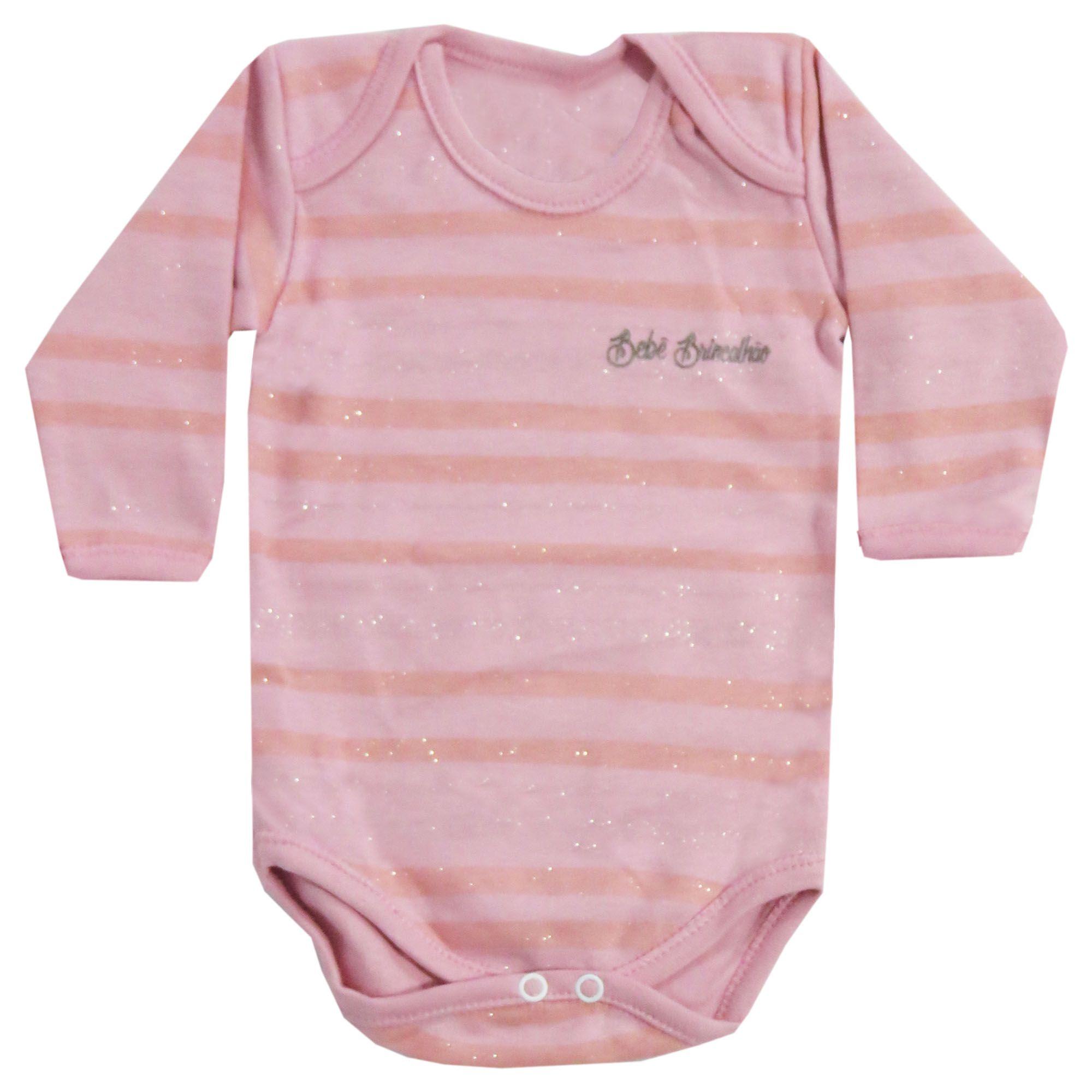 Body Bebê Brincalhão Listrado com Brilho - RN ao G