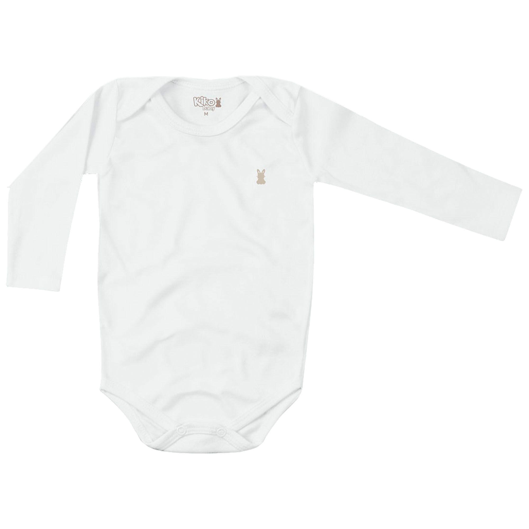 Body Kiko Baby Branco Liso - RN ao G