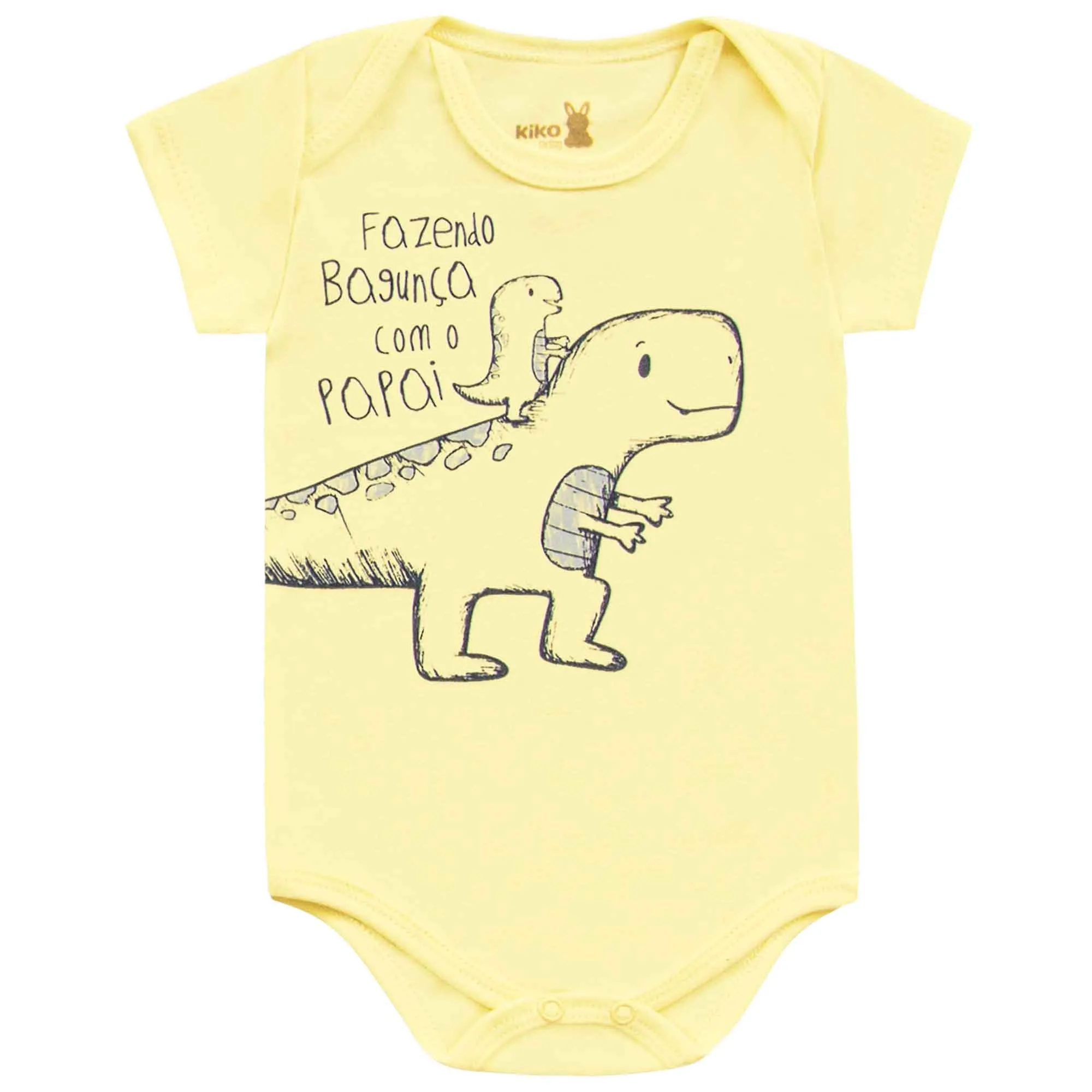 Body Kiko Baby Manga Curta Dino - RN ao G