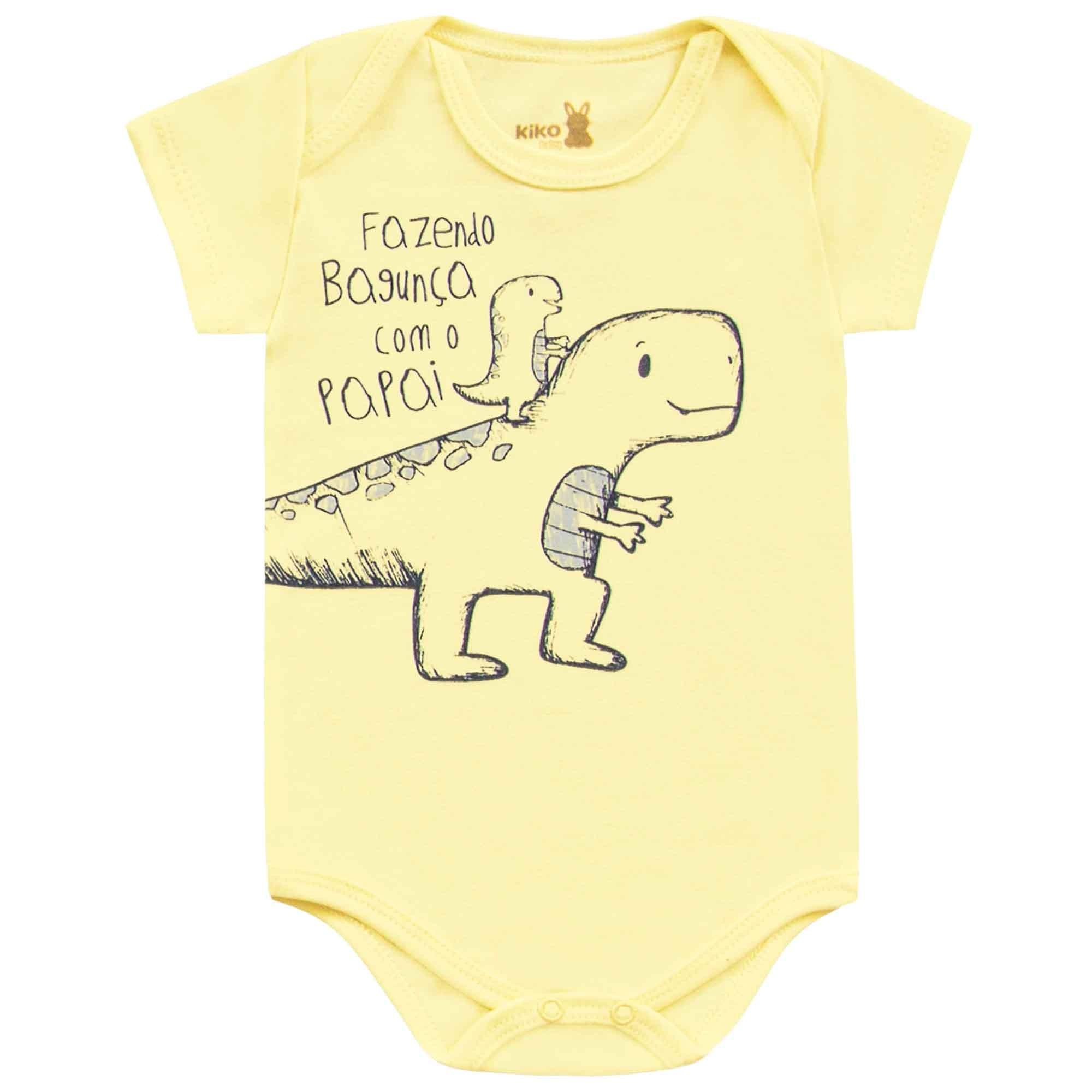 Body Meia Manga Kiko Baby Dino - RN ao G