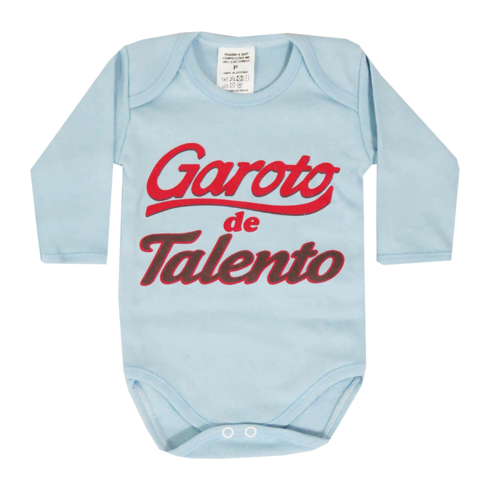Body Pequenino Baby Frases Dormir? Não Obrigado, Não Perturbe Estou Mamando, Garoto de Talento - P ao G