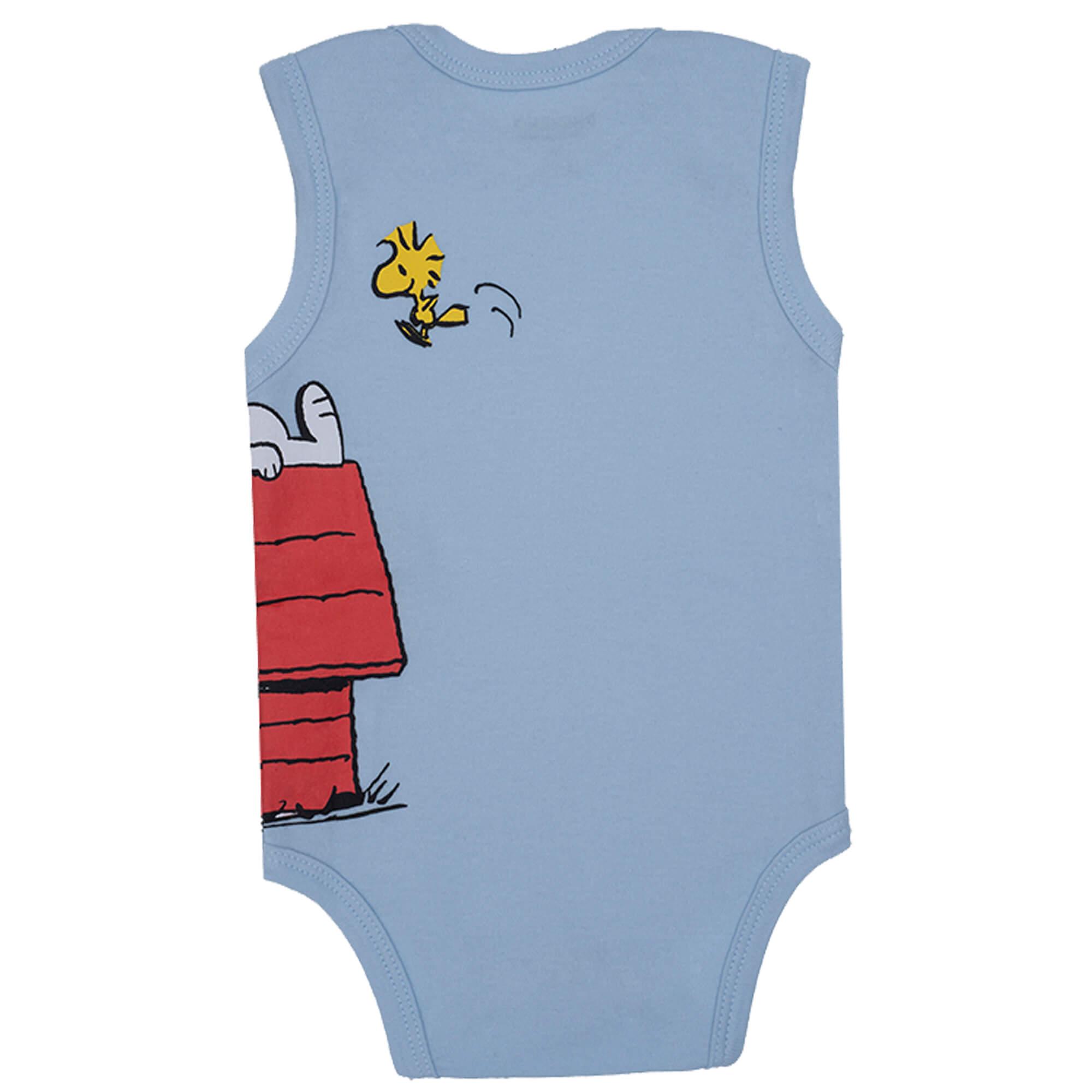 Body Regata Pimpolho Snoopy Na Casinha – Azul claro – RN ao G