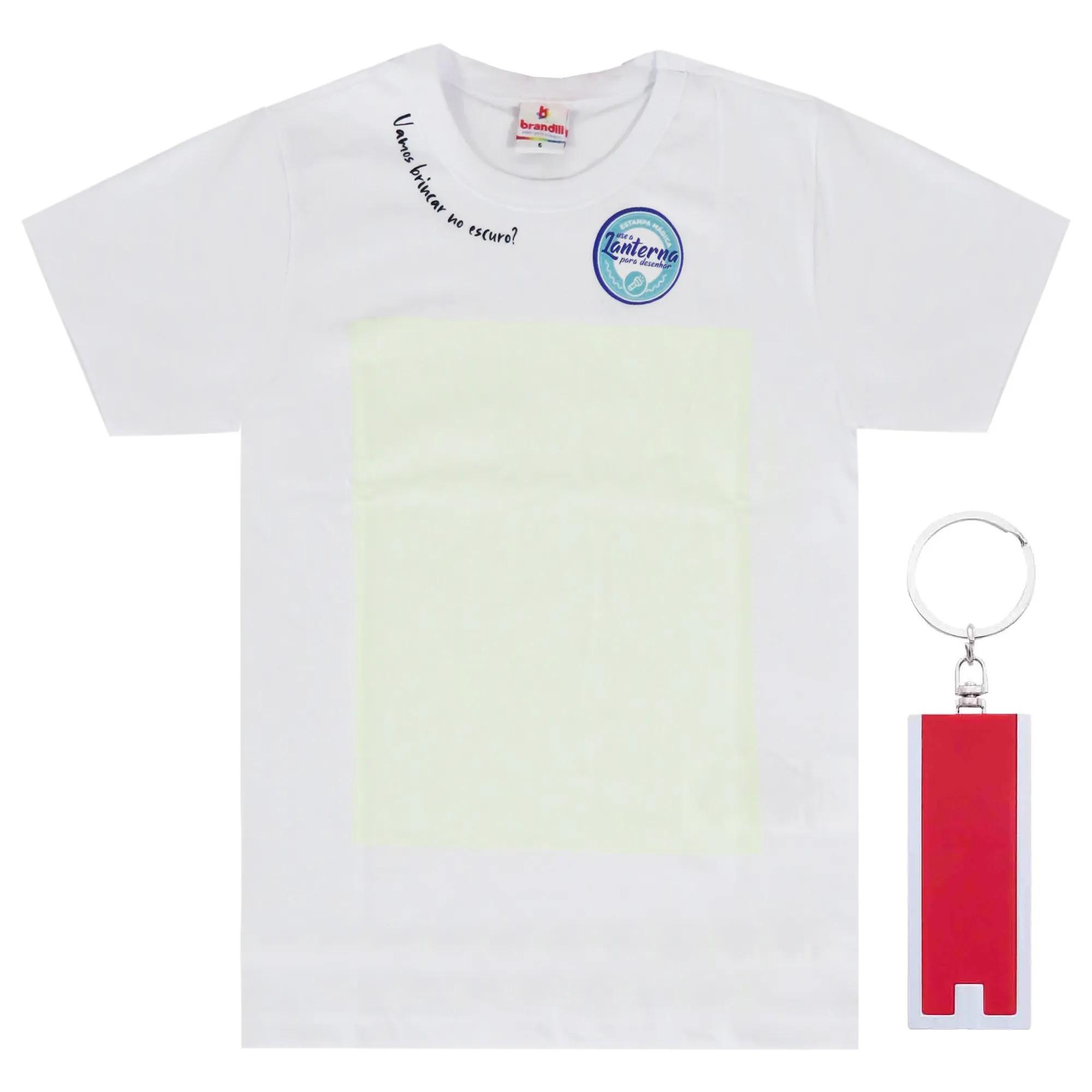 Camiseta Meia Manga Brandili com Lanterna Mágica - 4 ao 10