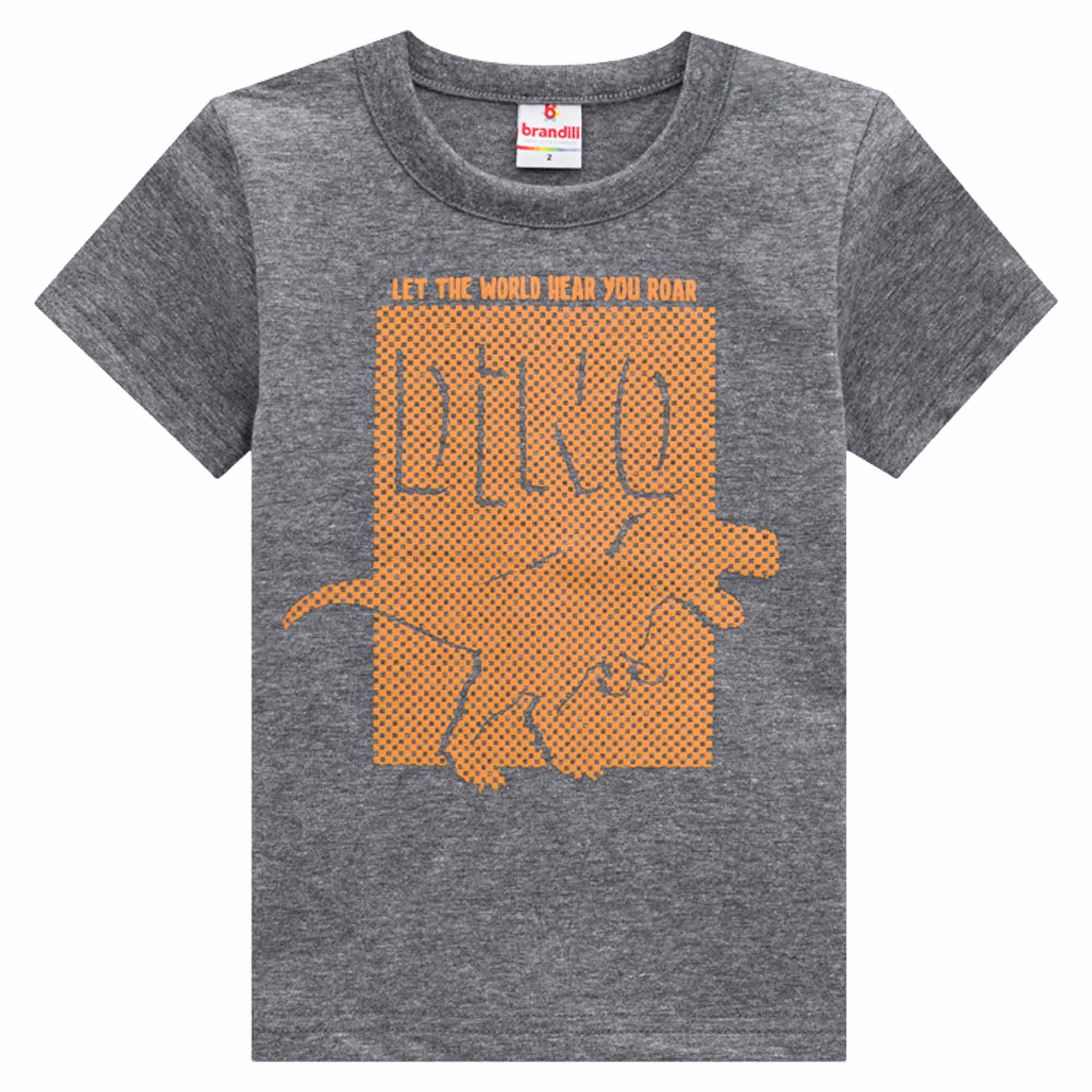 Camiseta Meia Manga Brandili Dino - 1 ao 3