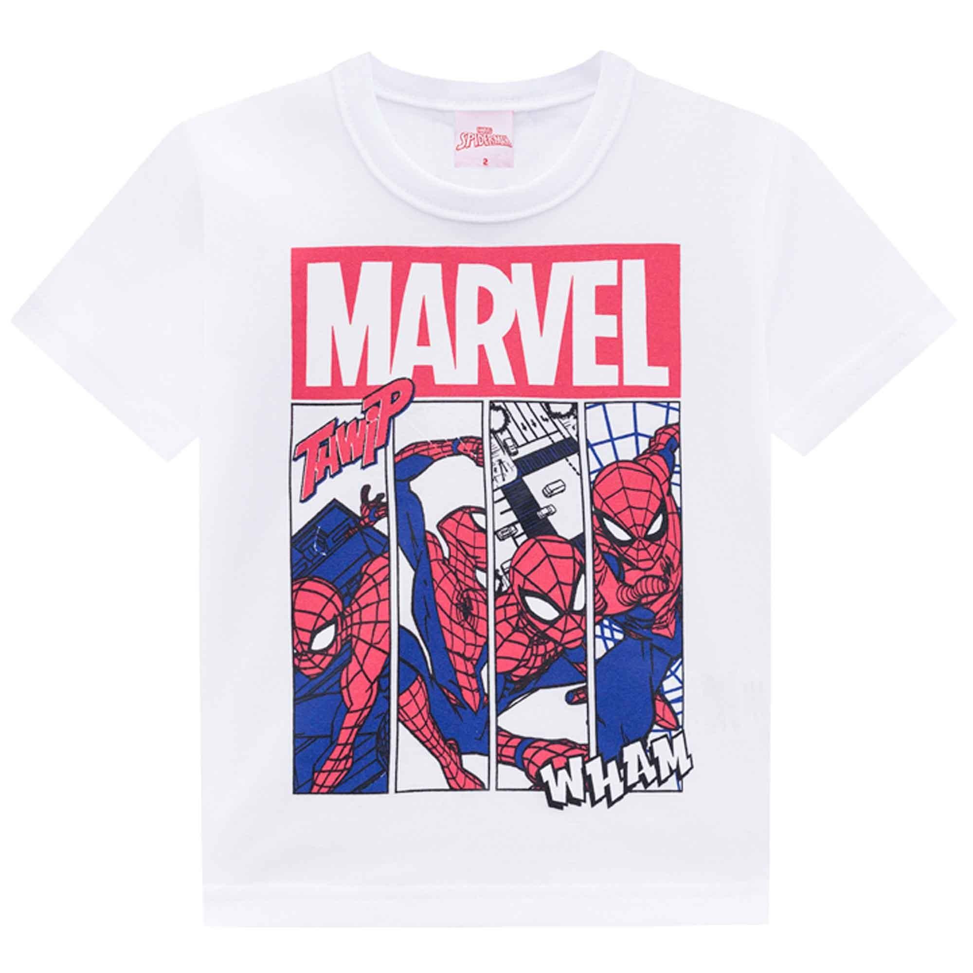Camiseta Meia Manga Brandili Homem Aranha - 1 ao 3