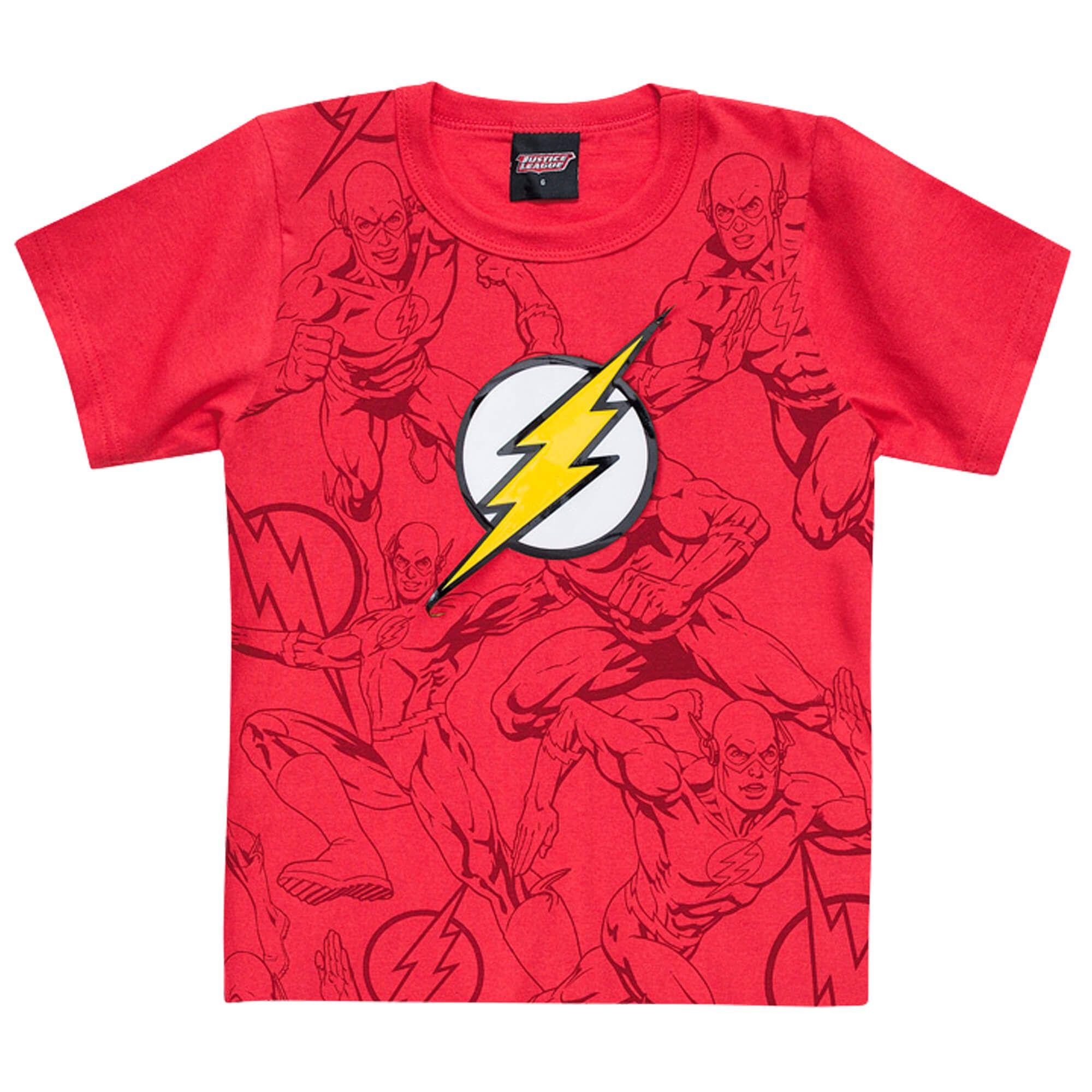 Camiseta Meia Manga Brandili Flash - 4 ao 10