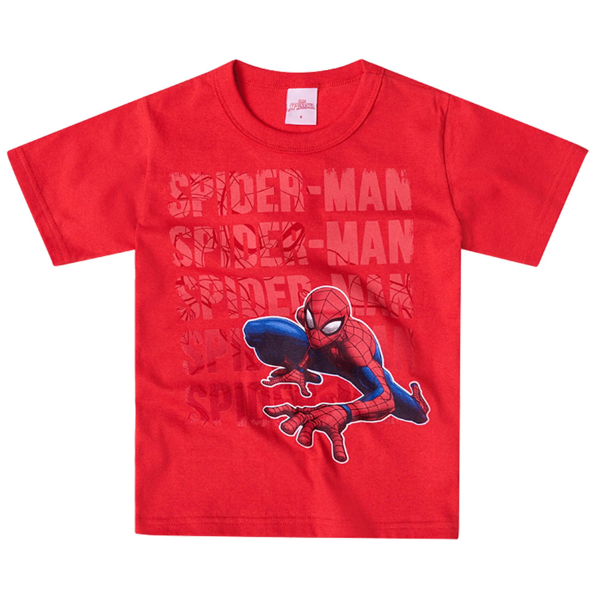 Camiseta Meia Manga Brandili Homem Aranha – 4 ao 10