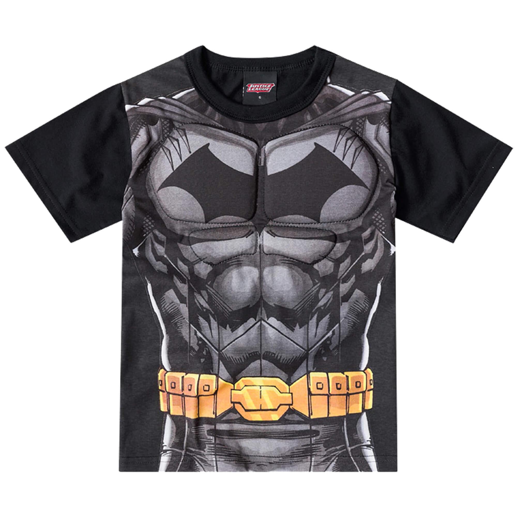 Camiseta Meia Manga Brandili Batman - 4 ao 10