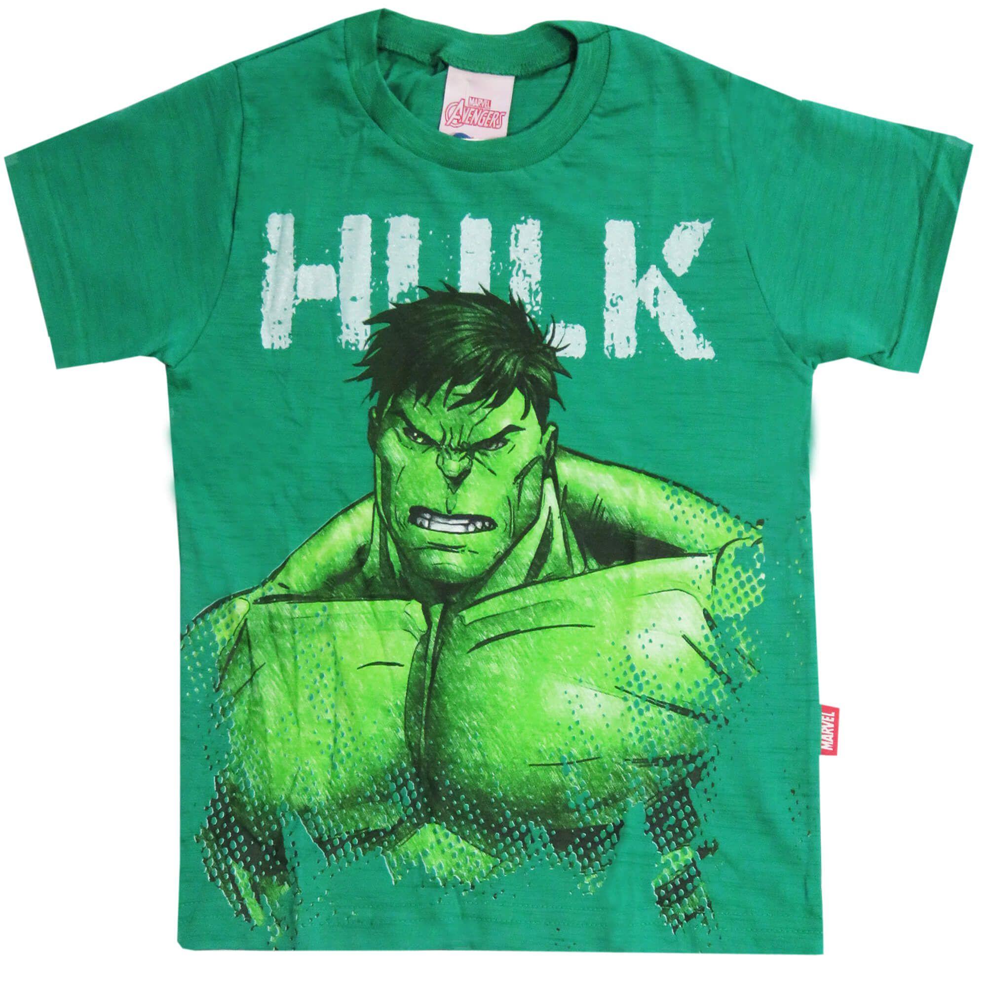 Camiseta Meia Manga Brandili Hulk - 4 ao 10