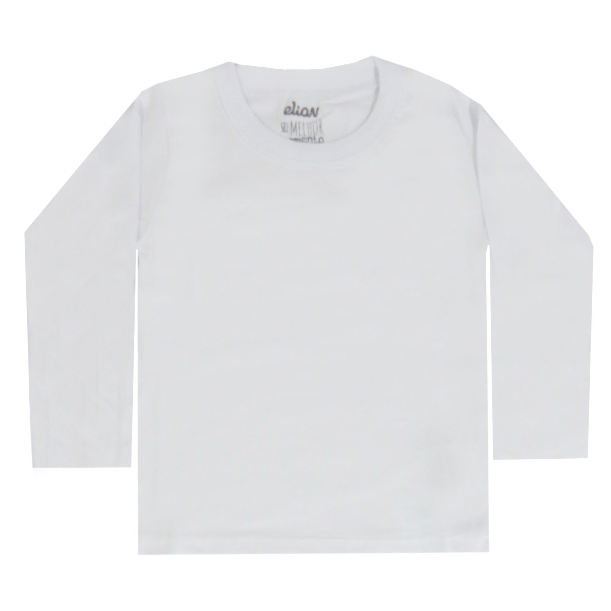 Camiseta Manga Longa Elian Lisa Color - 01 ao 03