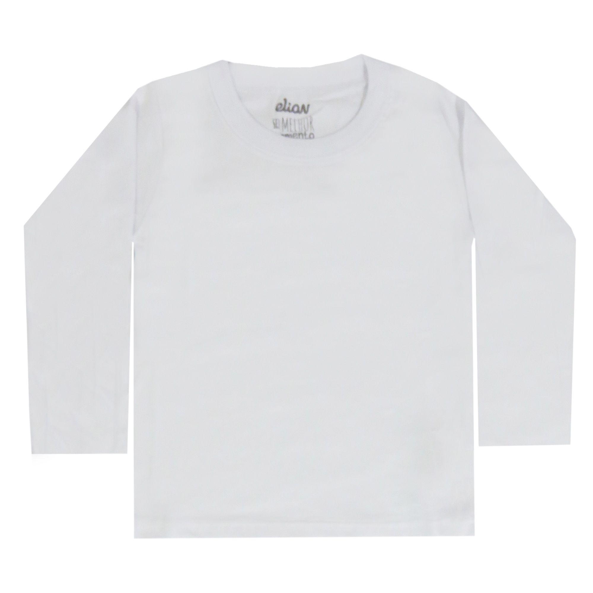 Camiseta Manga Longa Elian Lisa Color - 10 ao 16