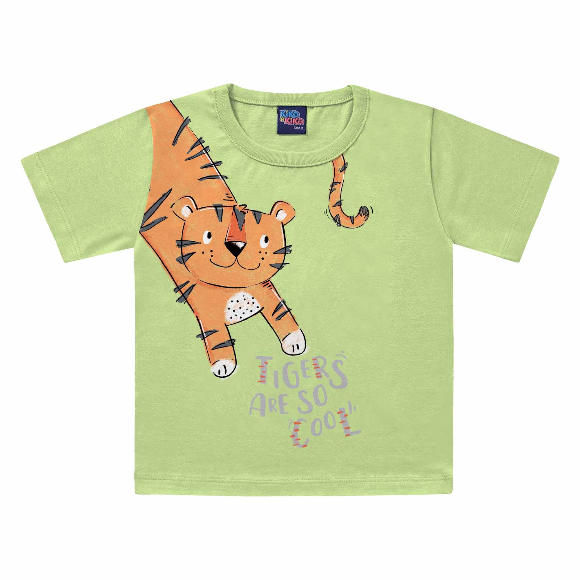 Camiseta Meia Manga Kiko e Kika Tigers - 1 ao 3