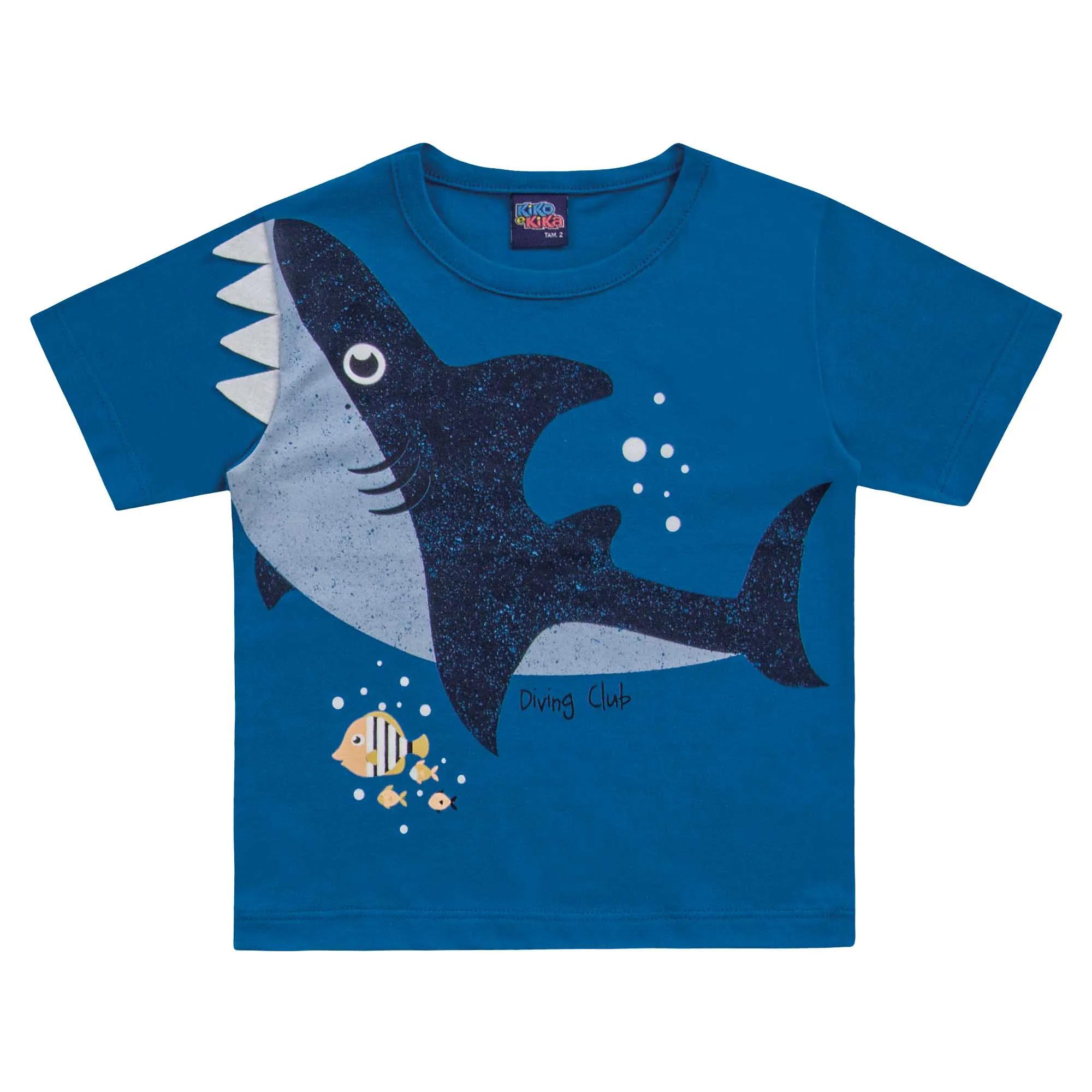 Camiseta Kiko e Kika Tubarão - 1 ao 3