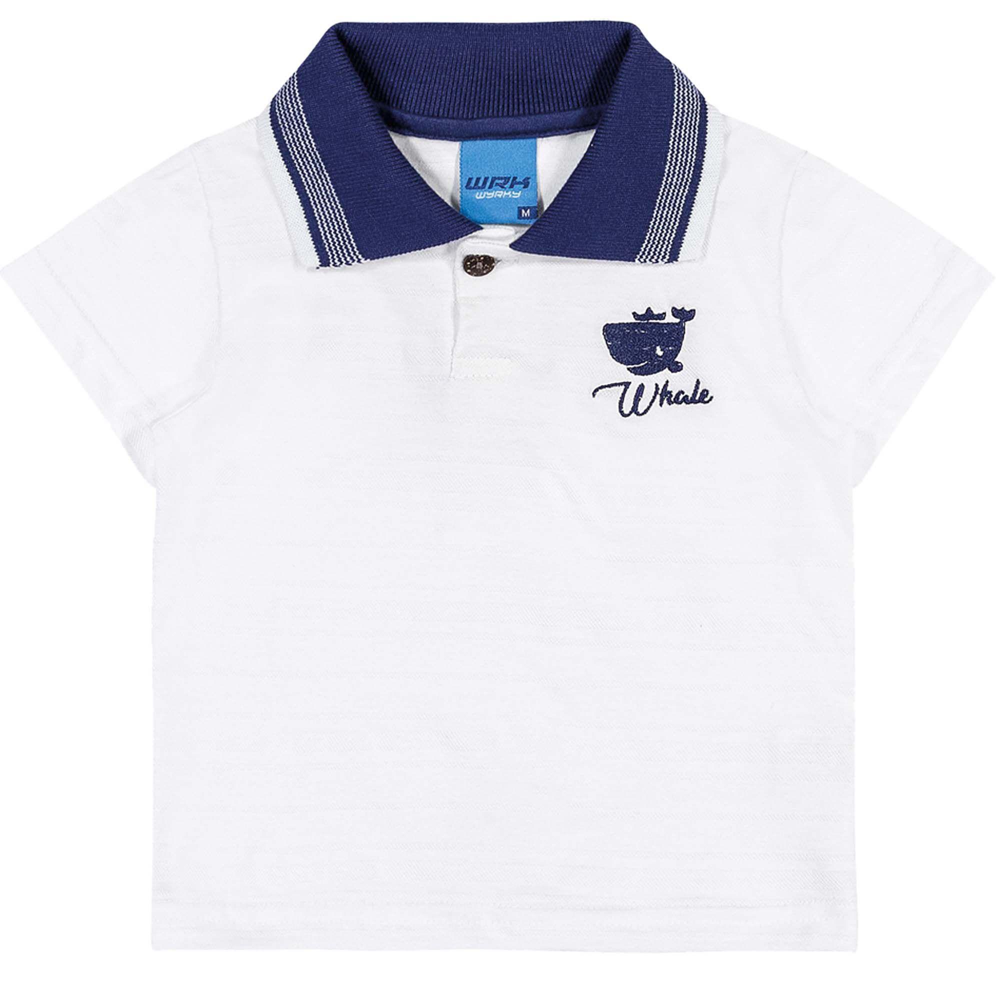 Camiseta Polo Meia Manga Romitex Wyrky Baleia - P ao G