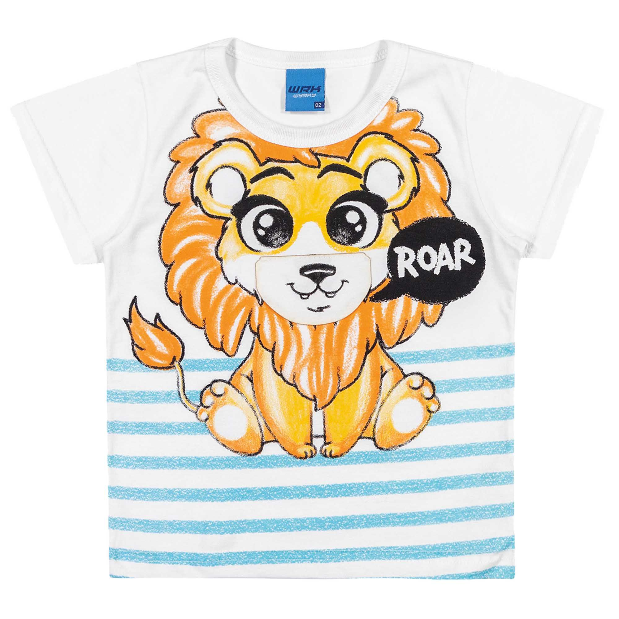 Camiseta Meia Manga Romitex Wyrky Leão - 1 ao 3