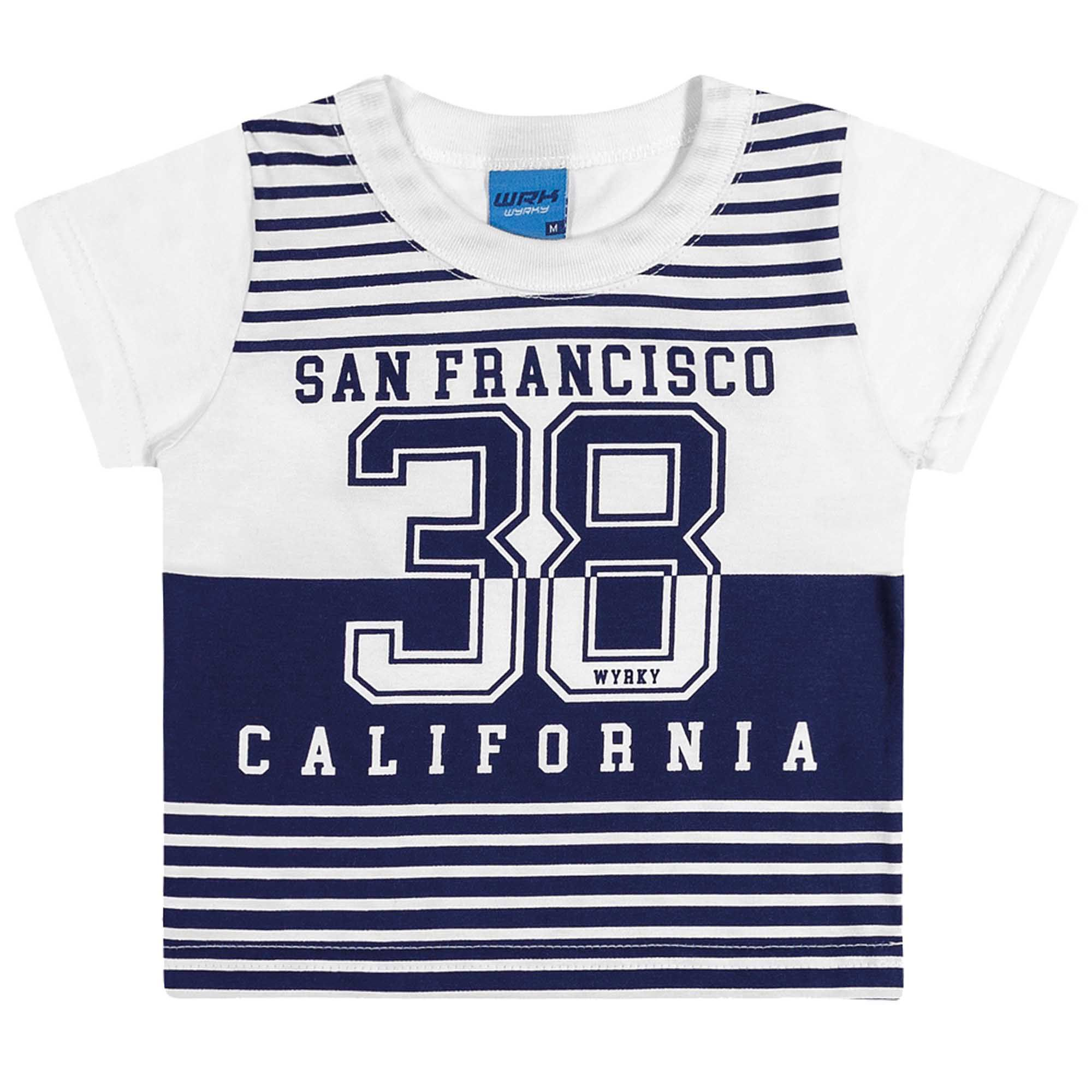 Camiseta Meia Manga Romitex Wyrky San Francisco 38 California - 1 ao 3