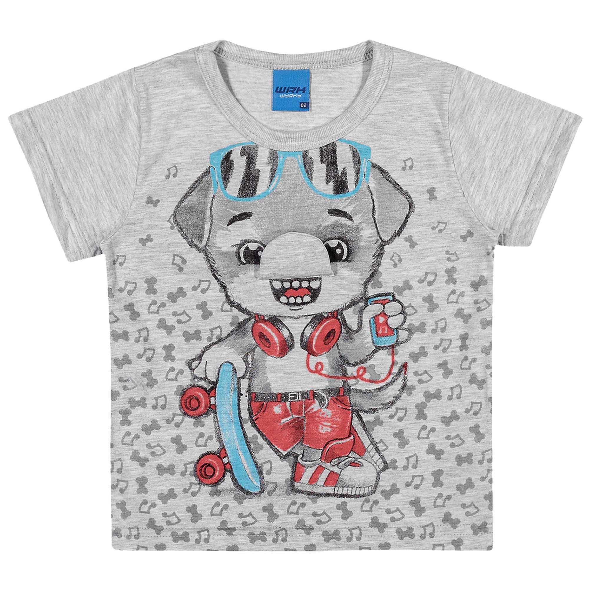 Camiseta Meia Manga Romitex Wyrky Urso Skatista - 1 ao 3