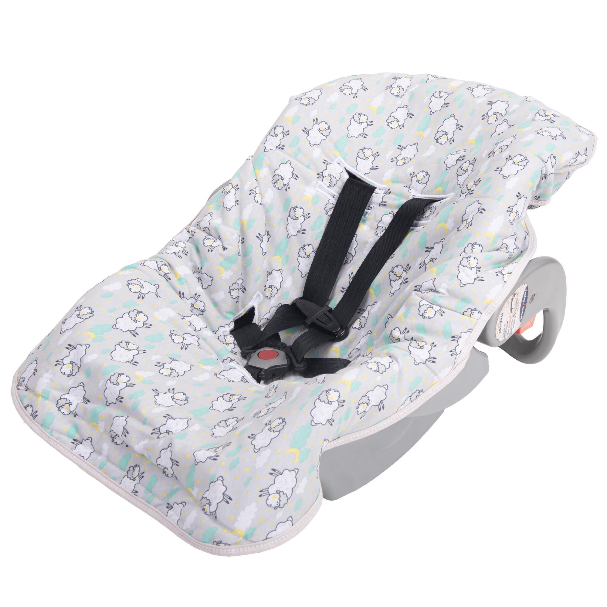 Capa para Bebê Conforto Incomfral Bambi Malhas - Ovelha Cinza