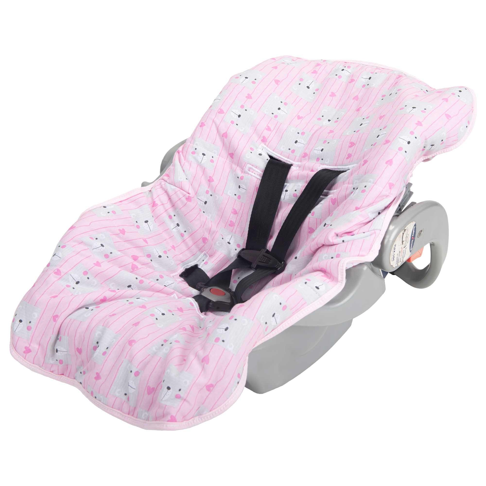 Capa para Bebê Conforto Incomfral Bambi Malhas - Ursinhas