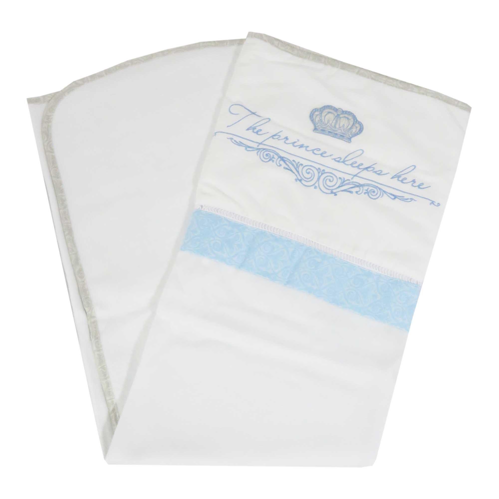 Cobertor Flanelado  Bordado Coroa - Minasrey - Reininho Classic