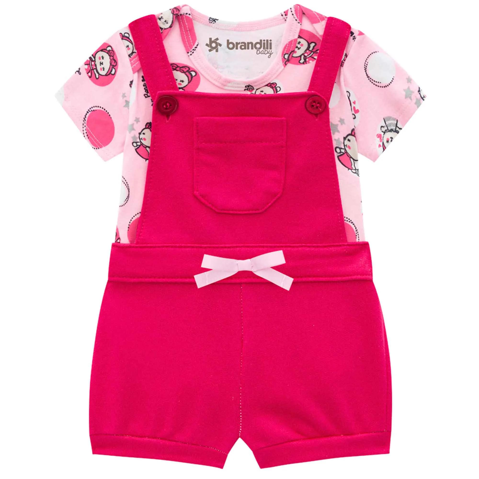 Conjunto Brandili Baby Body e Jardineira - P ao G