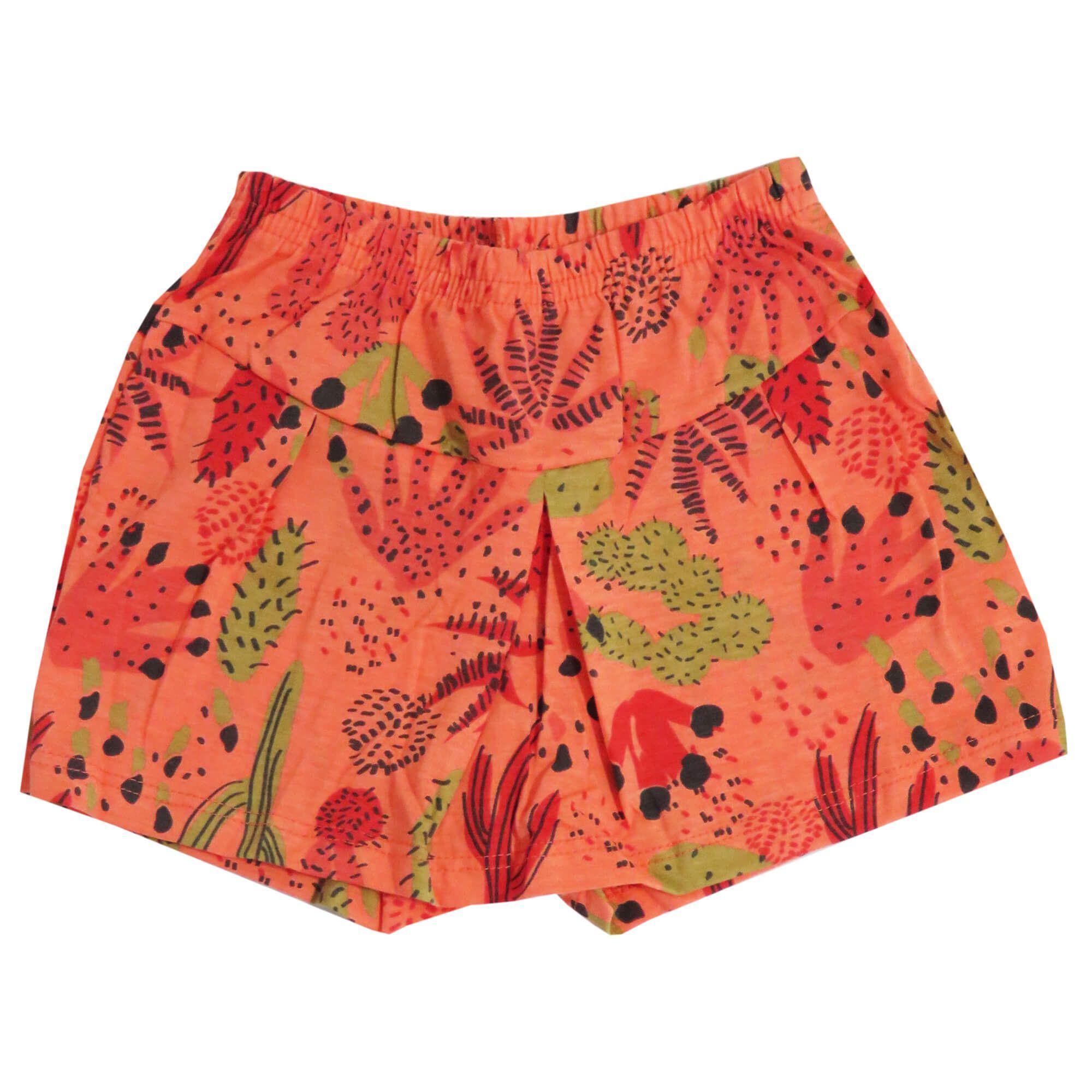 Conjunto Verão Brandili Blusa Nature com Shorts Saia Cactus - 1 ao 3