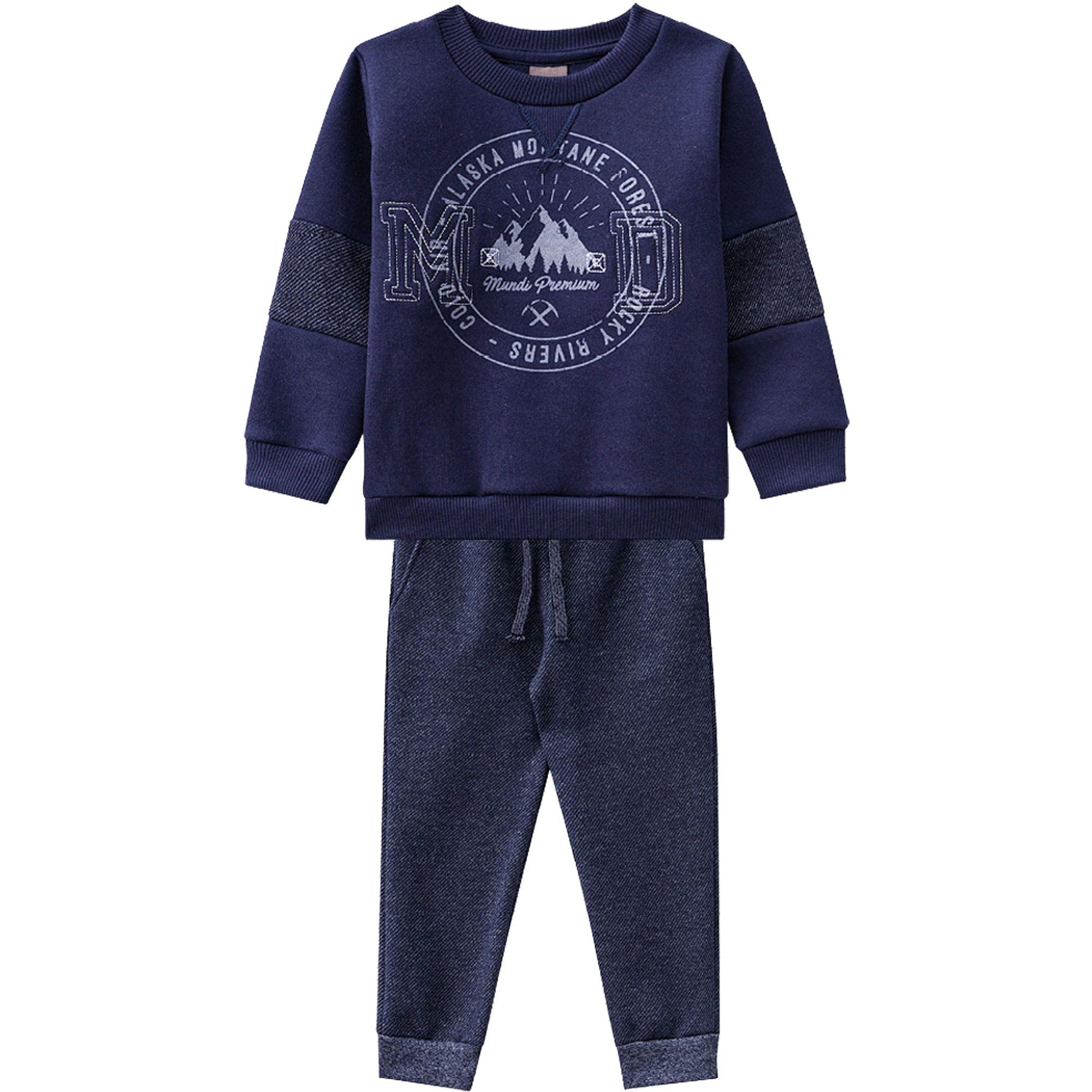 Conjunto Brandili Mundi Bordado MD Alaska Montane Forest com calça Jogger - 01 ao 03