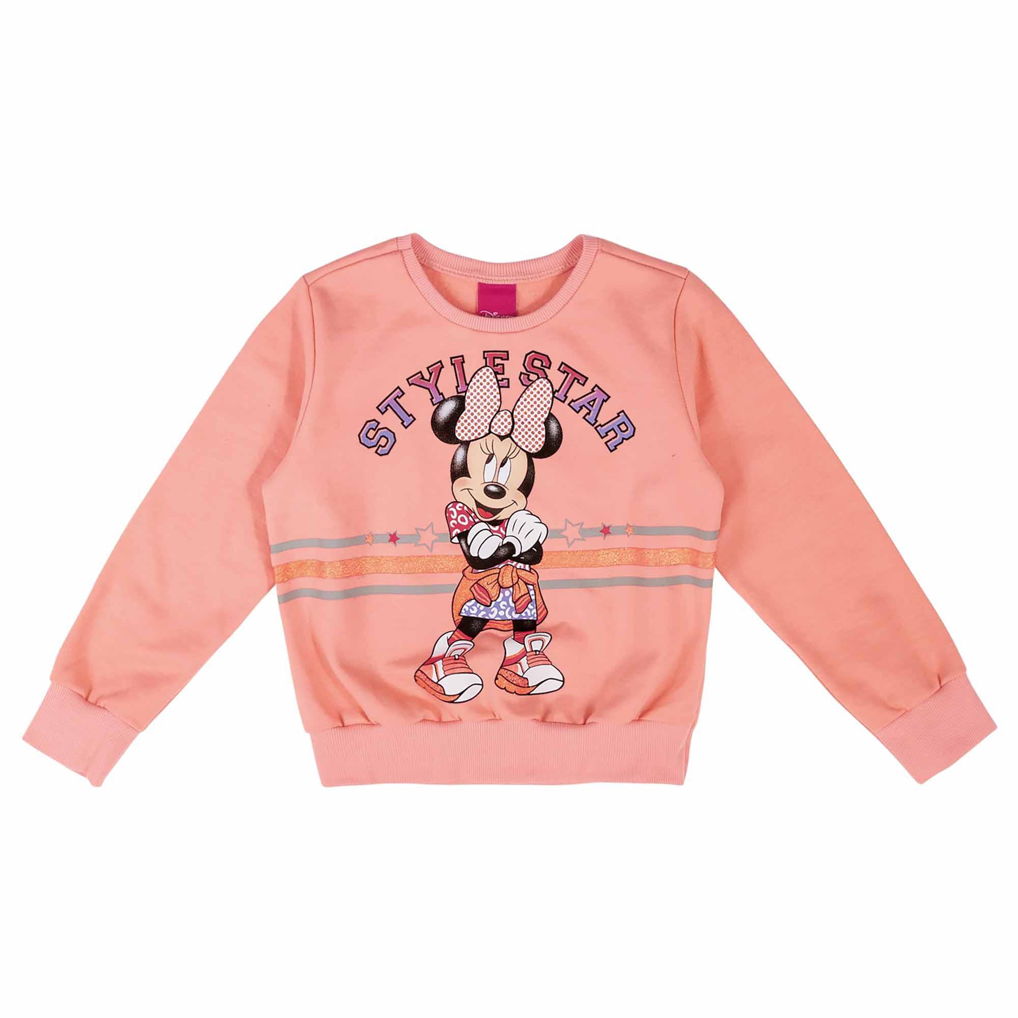 Conjunto Inverno Cativa Estampa com Neon Minnie Style Star - 4 a 8
