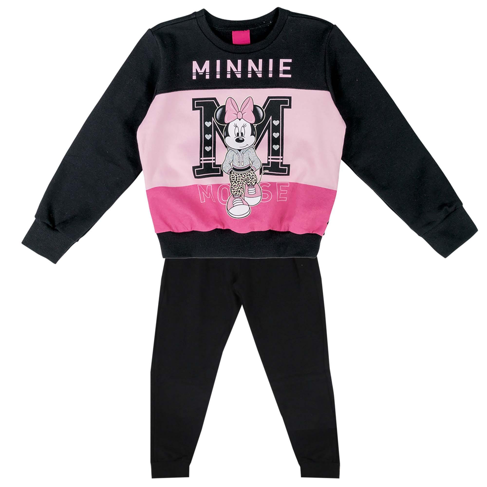 Conjunto Inverno Cativa Estampa Glitter Minnie Recortes - 4 a 8