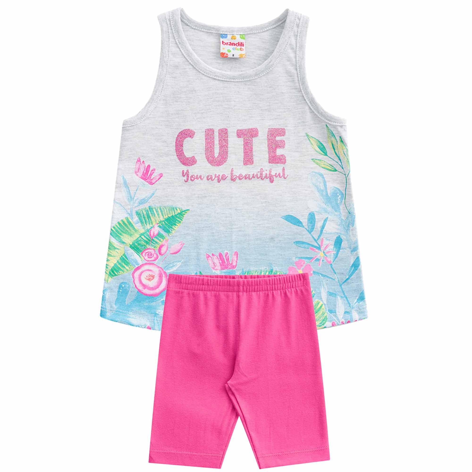 Conjunto Brandili Club Cute You Are Beautiful - 1 ao 3