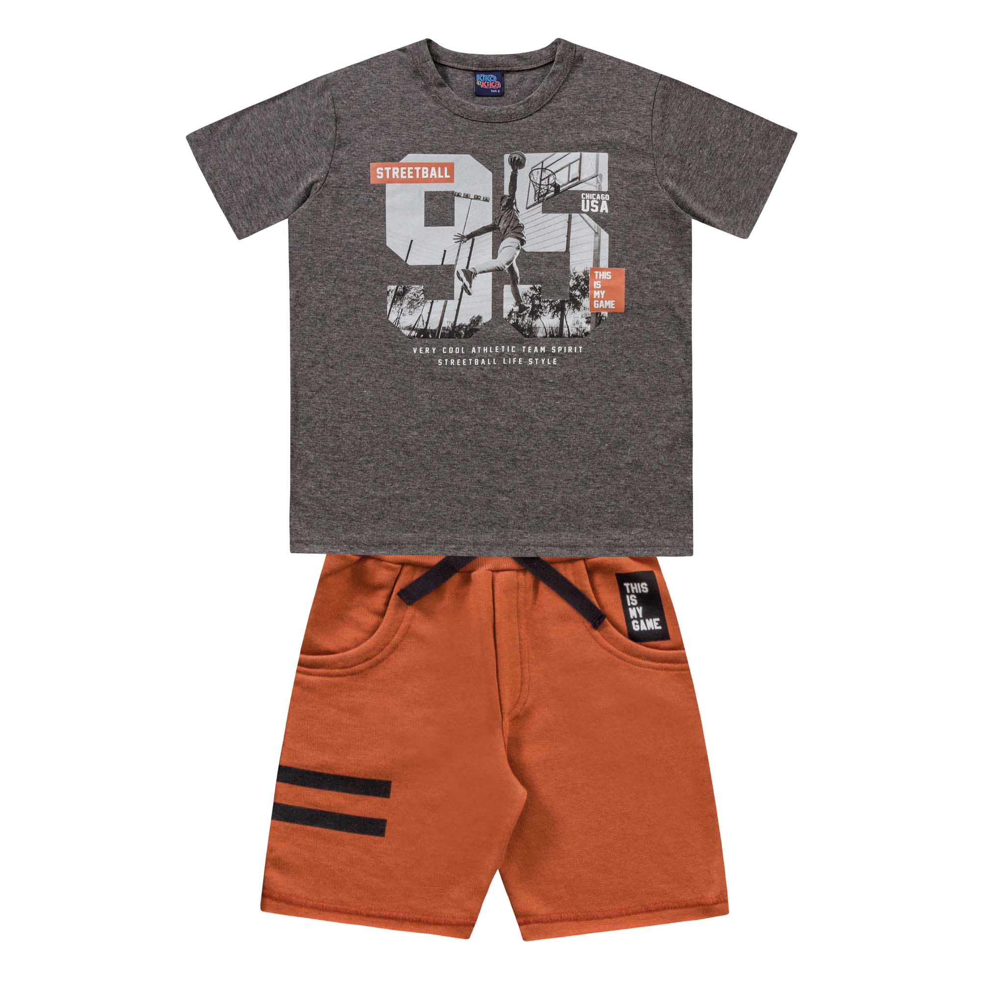 Conjunto Verão Kiko e Kika Camiseta e Bermuda 95 - 6 ao 10