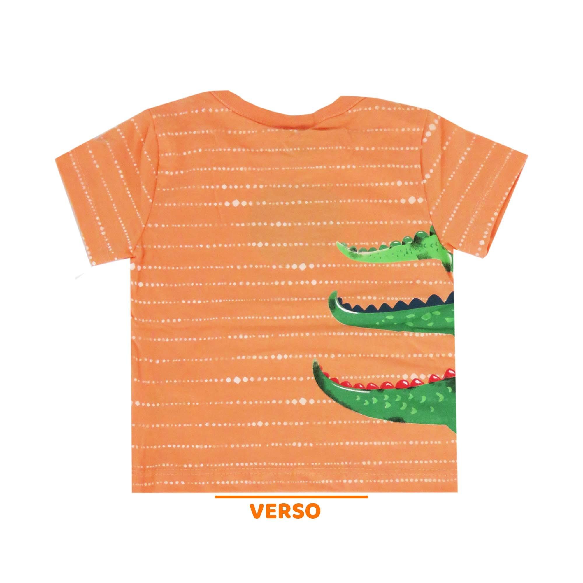 Conjunto de Verão Kiko e Kika Camiseta e Bermuda - Croc Croc - M ao G