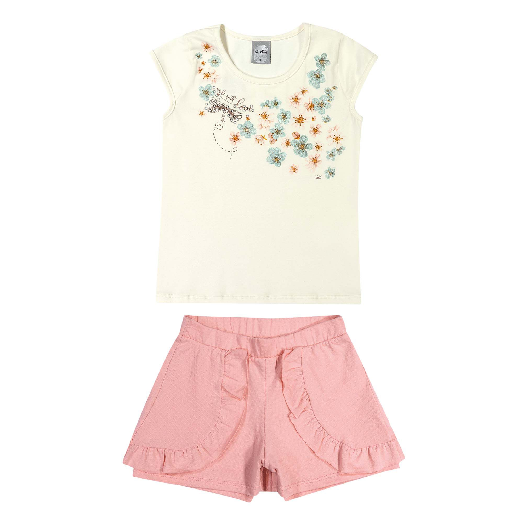 Conjunto Romitex Kely Kety Flores - 4 ao 10