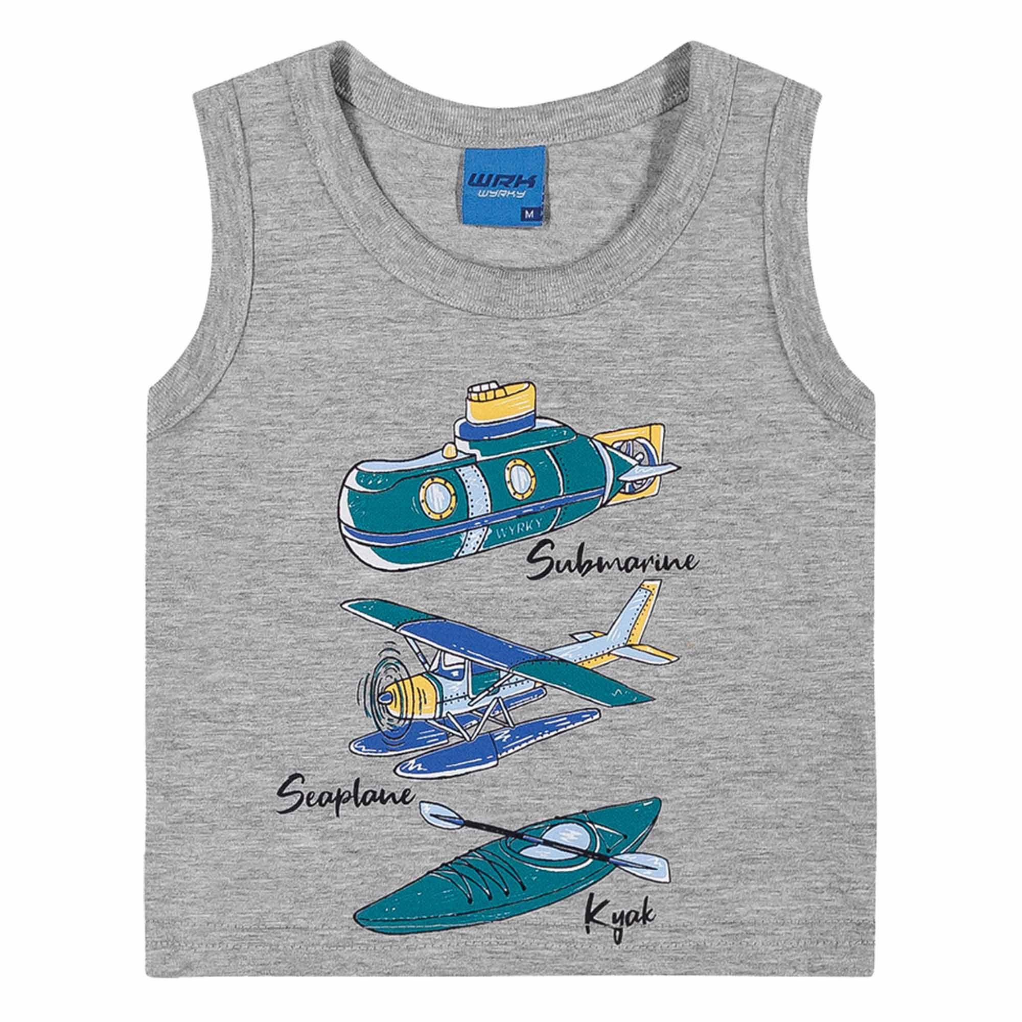 Conjunto Verão Romitex Wyrky Avião, Submarino, Caiaque - 1 ao 3