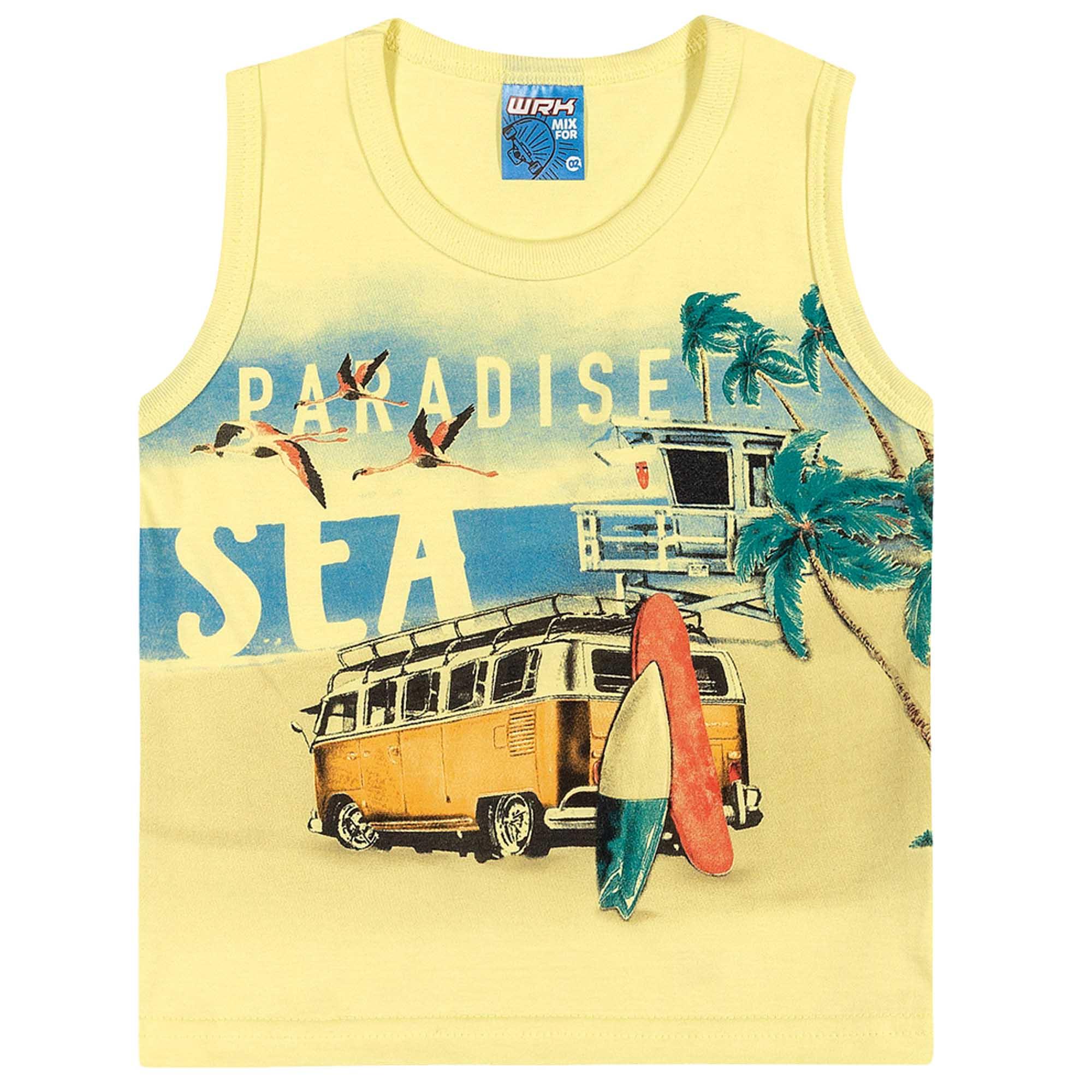 Conjunto Verão Romitex Wyrky Kombi Praia - 4 ao 8